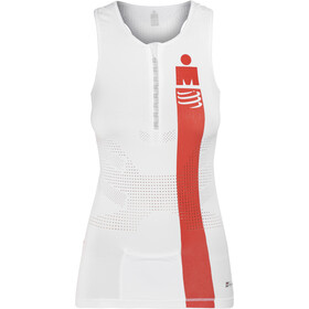 Compressport TR3 Triathlon Tank Top Ironman Edition Damen smart white